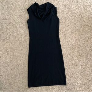 Neiman Marcus Black Cashmere Cowl Neck Dress